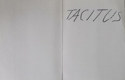 Cy Twombly, 'Tacitus', 1979
