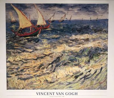 Vincent van Gogh, 'Seascape wheat fields near Arles 1888', ca. 2000