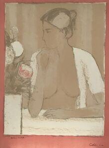 Bernard Cathelin, 'Nu au casaquin blanc et au bouquet', 1974