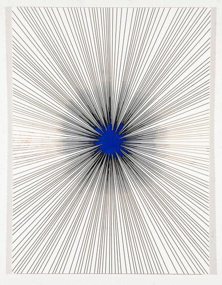 Lars Fischedick, 'Black Star in Blue', 2019