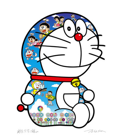 "Takashi Murakami, 'Sitting Doraemon ""A pleasant day under the blue sky""', 2020"