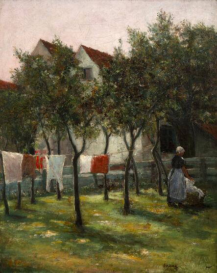 George Van Millett, 'Washday', 1891