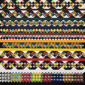 Alfred Jensen, 'Mayan Mat Patterns, Number Structures', 1974