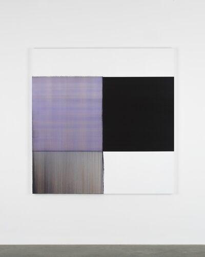 Callum Innes, 'Exposed Painting Blue Violet', 2019