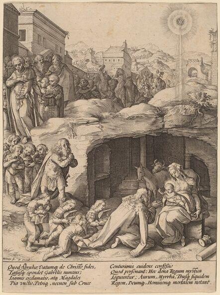 Hendrik Goltzius, 'The Adoration of the Magi', ca. 1586