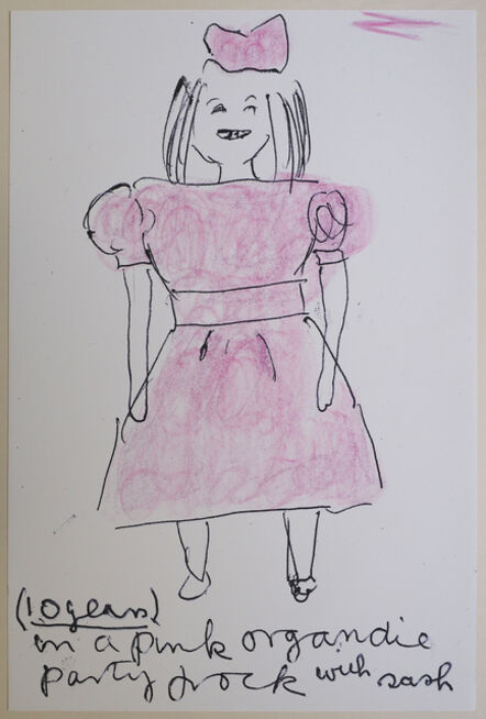 Rose Wylie, 'Girl Now meets Girl Then (2019)', 2019