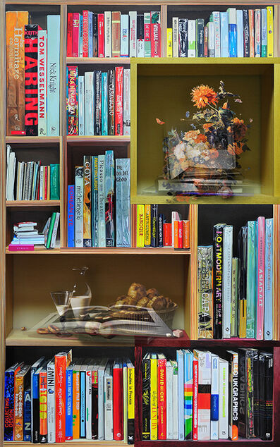 Bae Joon Sung, 'The Costume of Painter- Still Life with poppy in bookcase', 2011