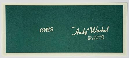 Andy Warhol, 'Warhol Art Cash (Ones)', 1971