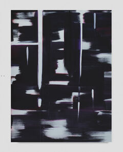 Wanda Koop, 'Reflect (Black, Dioxazine Purple and Misty Blue)', 2019