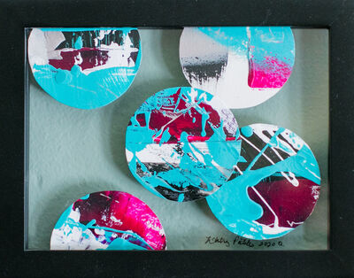 Whitney Pintello, 'Portholes 6- Colorful Abstract Collage Painting', 2020