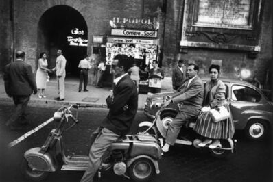 William Klein, 'Red Light and Vespa, Rome', 1956