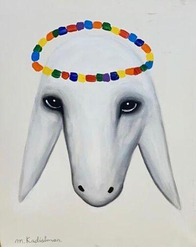 Menashe Kadishman, 'Crowned Goat Head', Late 20th century