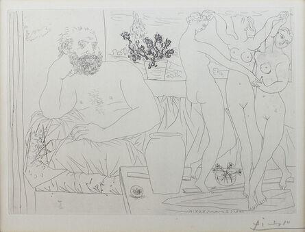Pablo Picasso, 'Sculpteur et Trois Danseuses Sculptée from La Vollard Suite', 1934
