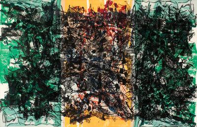 Jean-Paul Riopelle, 'Triptyque Orange', 1967