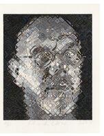 Chuck Close, 'Self-Portrait Woodcut', 2007