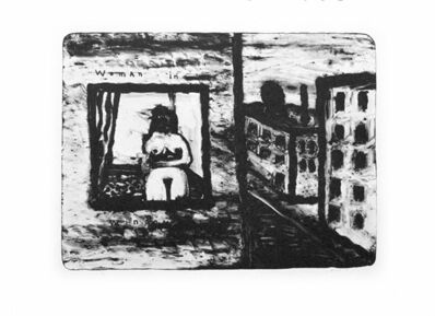 David Lynch, 'Woman in Window', 2010