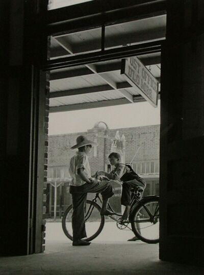 Andreas Feininger, 'Barefoot Boys Gather Around the Post Office, D'Lo, Mississippi', 1942