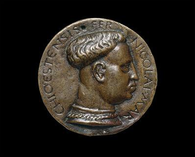 Amadio da Milano, 'Niccolo III d'Este, 1383-1441, Marquess of Ferrara 1393 [obverse]', probably 1437/1441