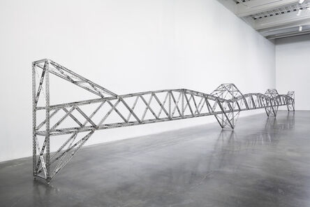 "Chris Burden, 'Triple 21 Foot Truss Bridge. Installation view, ""Chris Burden: Extreme Measures"" at New Museum, New York, 2013', 2013"