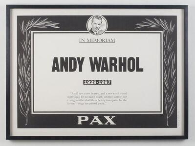 Andy Warhol, 'Memorial Poster', 1987