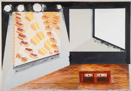 Stephen Farthing, 'The Museum of a Slice of America, Madison Ave', 2017