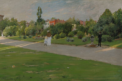 William Merritt Chase, 'Park in Brooklyn', ca. 1887