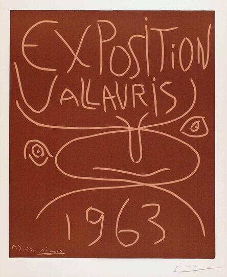 Pablo Picasso, 'Exposition Vallauris 1963', 1963