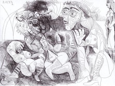 Pablo Picasso, 'Filles entre elle. La récréation en musique', 1971
