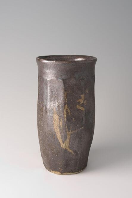 Shōji Hamada, 'Faceted vase, salt glaze with wax resist brushwork', 1960