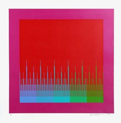 Richard Anuszkiewicz, 'Soft Satellite Red', 1981