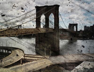 Abelardo Morell, 'Tent-Camera Image on Ground: Rooftop View of the Brooklyn Bridge', 2010