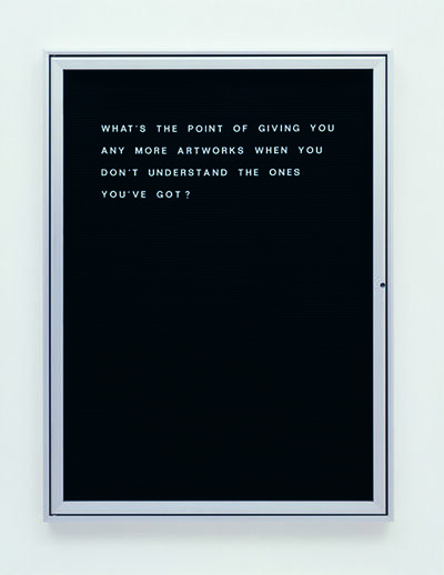 Bethan Huws, 'What's the point of giving…?', 2006