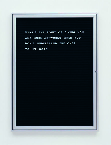 Bethan Huws, 'Untitled (what's the point of giving…)', 2006