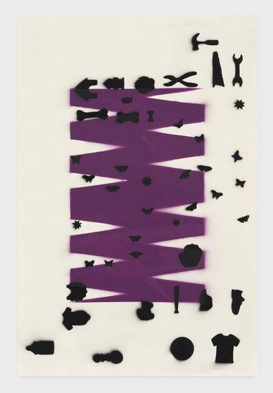 Zak Kitnick, 'SHAPES 1 (rich plum)', 2020