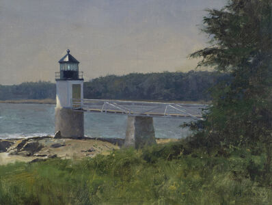 Donald W. Demers, 'Standing Alone, Marshall Point Light, Port Clyde, Maine', 21st Century
