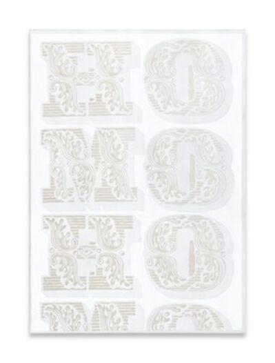Megan Francis Sullivan, ''HOMO (white series) no. I', 2013