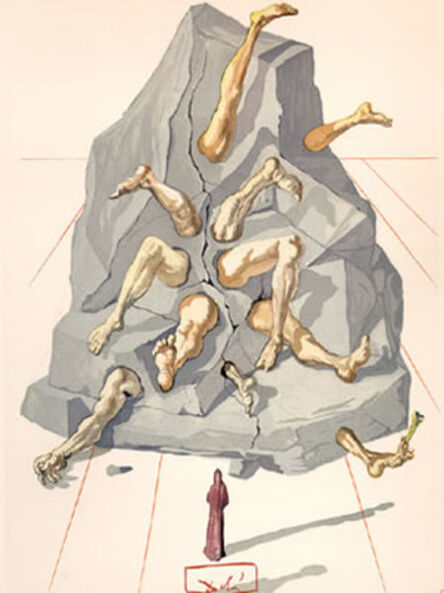Salvador Dalí, 'Inferno Canto 19: The Simonists from The Divine Comedy', 1960