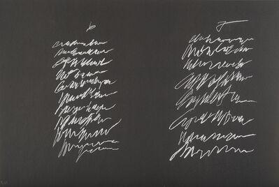 Cy Twombly, '8 odi di Orazio', 1968