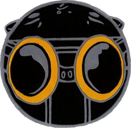 Hebru Brantley, 'Flyboy Rug (Black & Gold)', 2020