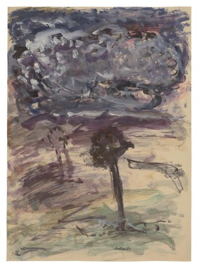 Fritz Ascher, 'Two Trees', 1952