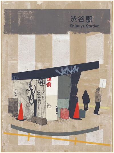 Evan Hecox, 'Shibuya Newsstand', 2015