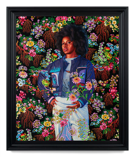 Kehinde Wiley, 'Portrait of Nelly Moudime II', 2020