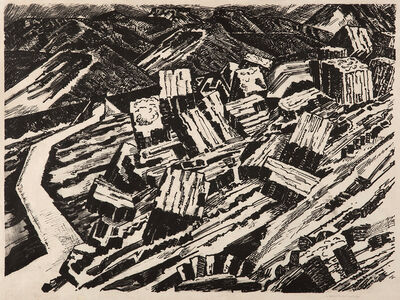 Edward Wadsworth, 'Ladle Slag, Old Hill, 2', 1919