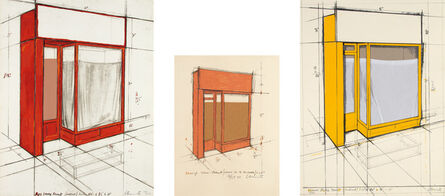Christo and Jeanne-Claude, 'Red Store Front, Project; Orange Store Front, Project; and Yellow Store Front, Project', 1979-80