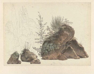 Josephus Augustus Knip, 'Overgrown Rocks', 1809-1812
