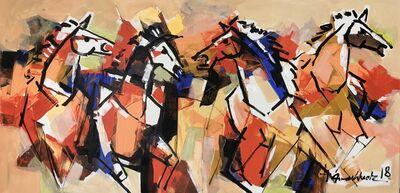 Mashkoor Raza, 'Horses ', 2018