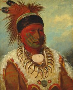 George Catlin, 'The White Cloud, Head Chief of the Iowas', 1844/1845