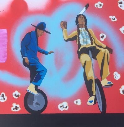 Frank Buffalo Hyde, 'Two Utes on a Unicycle', 2017