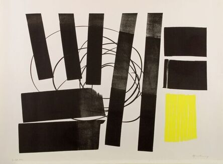Hans Hartung, 'L 1973-31 Homage to Picasso ', 1973