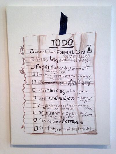 William Powhida, 'To Do List', 2014